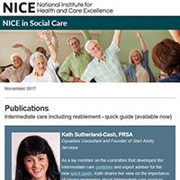 screenshot of a social care e-bulletin