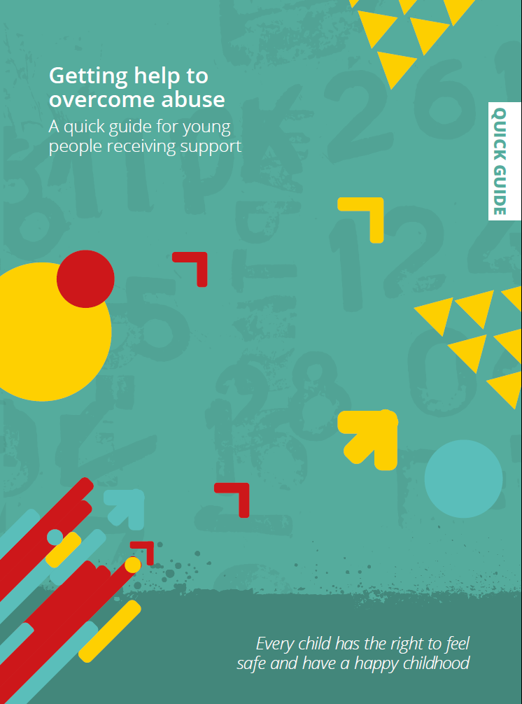 Front cover of the 'Getting help to overcome abuse' quick guide.