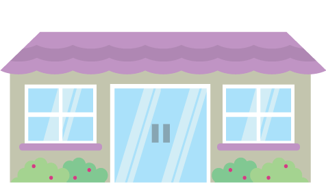 illustration of a care home