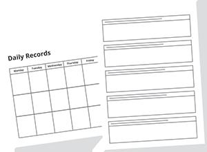 illustration of a care plan form