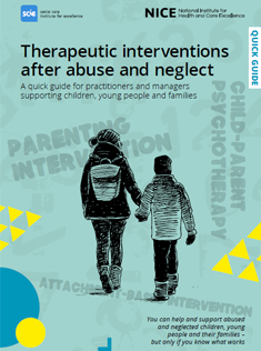 image of the front cover of the therapeutic interventions quick guide