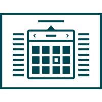icon shwoing a calendar