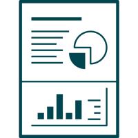 icon of a document with charts and graphs