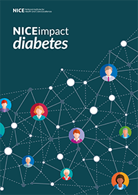cover of the NICEimpact diabetes report