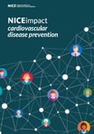 Front cover of the cardiovascular disease prevention impact report.