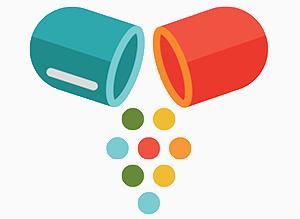 pills split into two