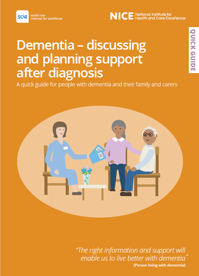 Front cover of the Dementia quick guide