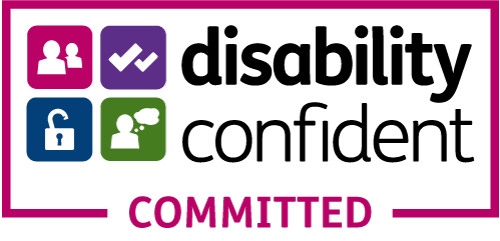 Disability confident logo.