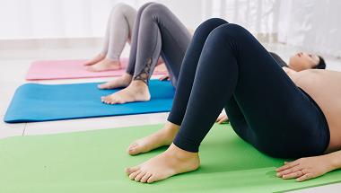 Women doing pelvic floor exercises