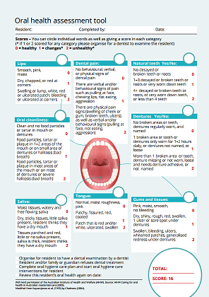 improving oral health for adults in care homes nice