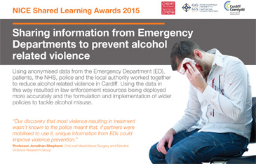 Sharing information to prevent alcohol related violence poster