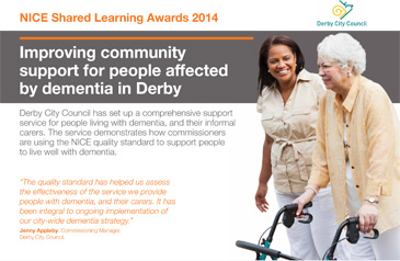 Derby Dementia Support Service poster