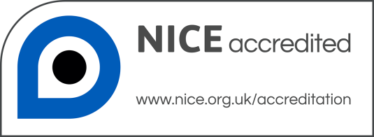 National Institute for Health and Care Excellence (NICE) accreditation logo